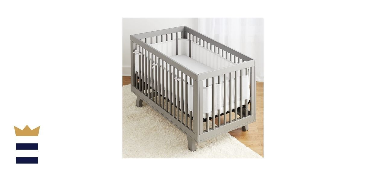 BreathableBaby's Classic Breathable Mesh Crib Liner
