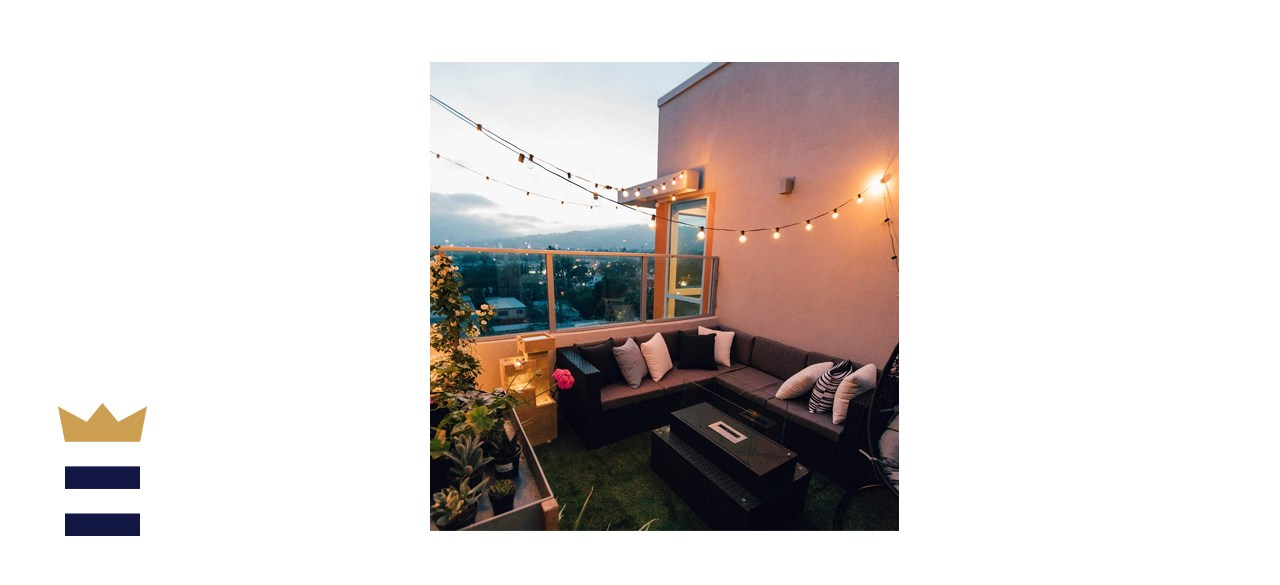 Brightown 100 Ft Outdoor Patio String Lights with Clear Edison Bulbs