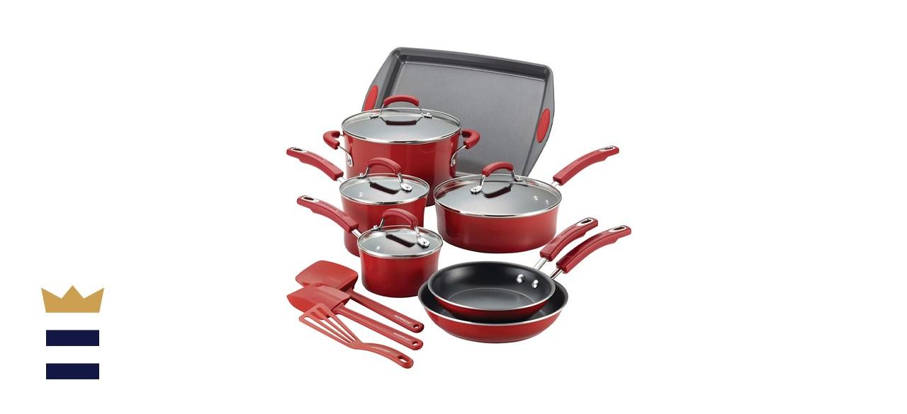 Brights Nonstick 14-Piece Cookware Set