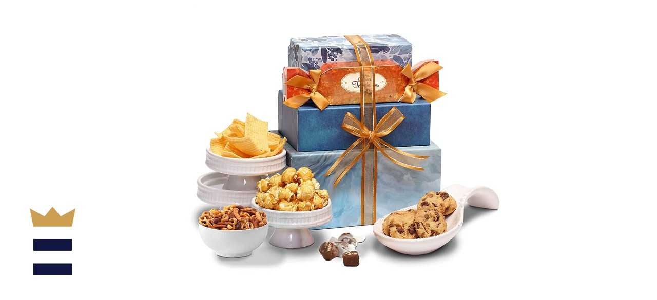 Broadway Basketeers Thinking of You Gift Tower Basket
