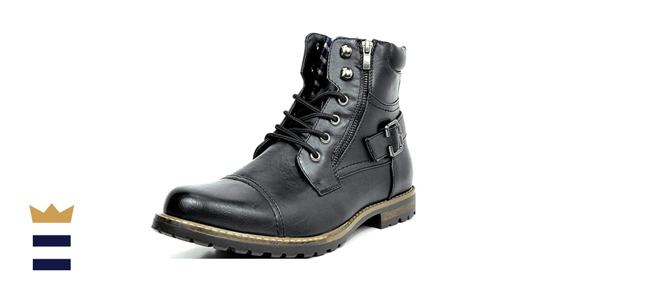 Bruno Marc Men's Military Motorcycle Combat Military Boots