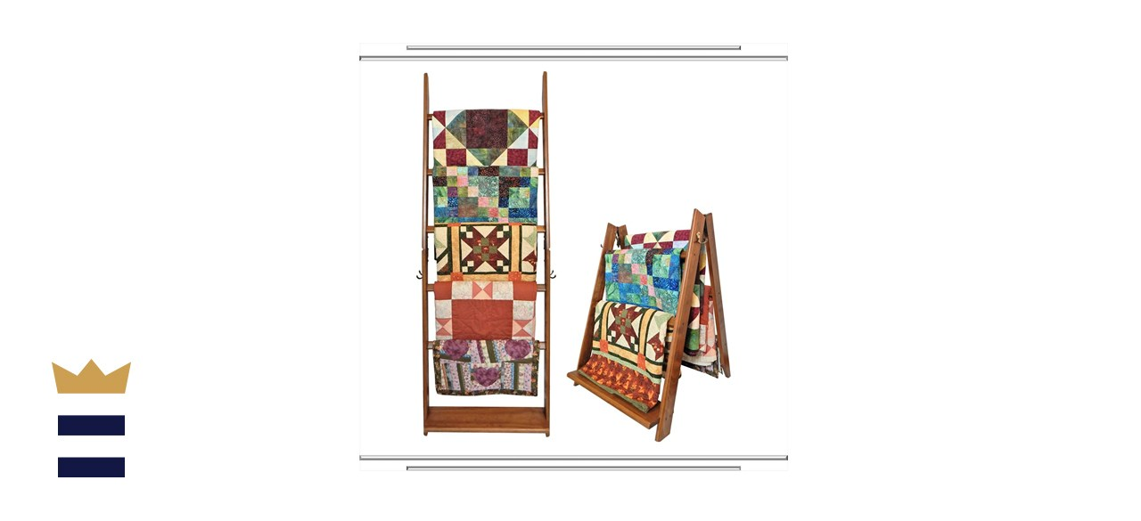 Built by Briick Quilting LadderRack 2-in-1 Quilt Display Rack