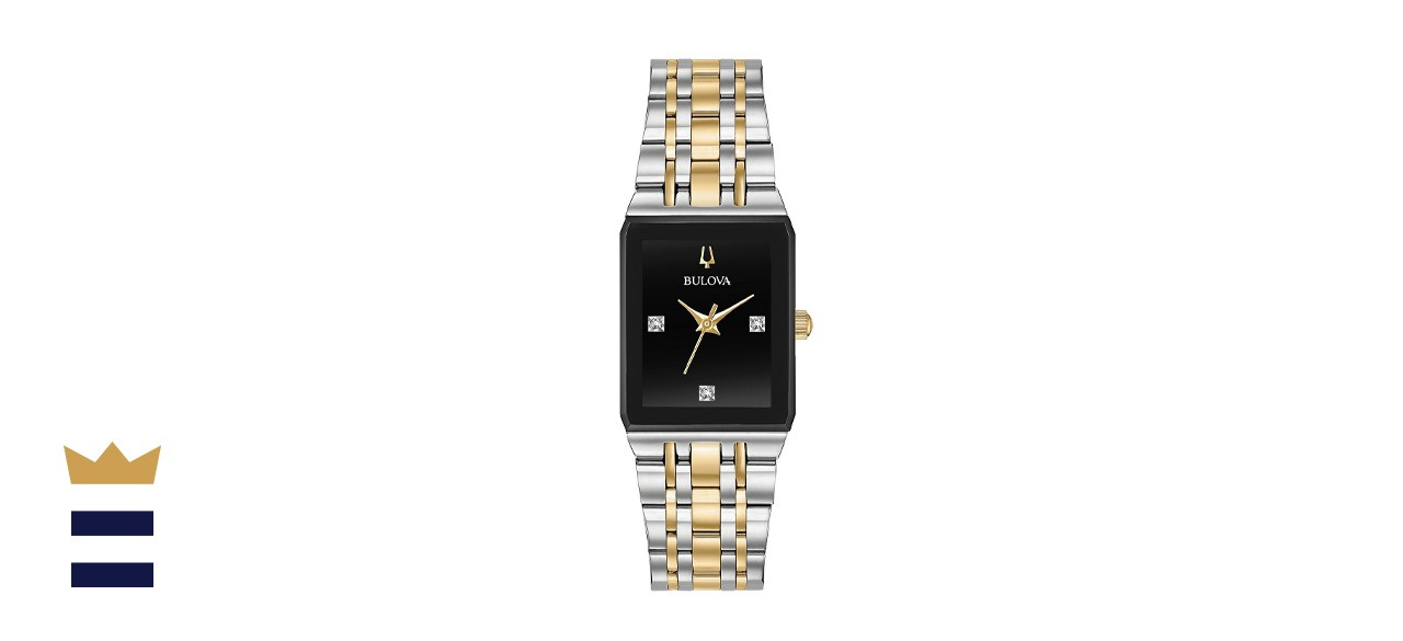 Bulova Women's Futuro Diamond-Accent Two-Tone Stainless Steel Bracelet Watch