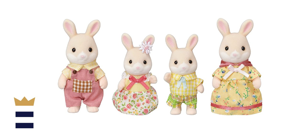 Calico Critters Marguerite Rabbit Family
