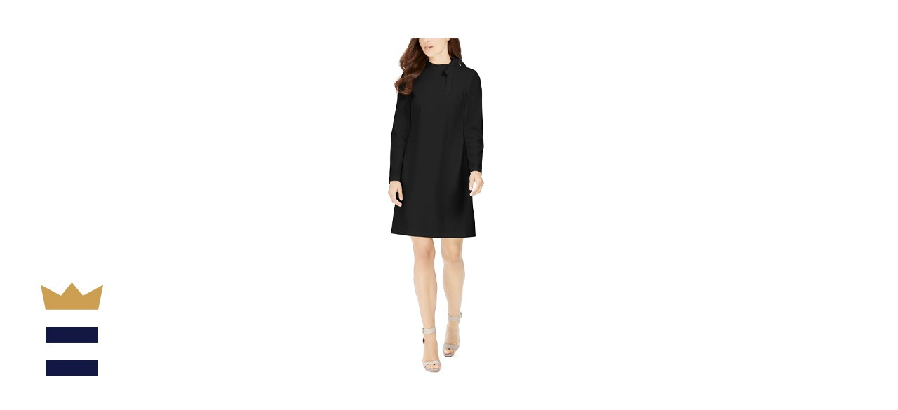 Calvin Klein Tie-Neck Scuba Crepe Dress
