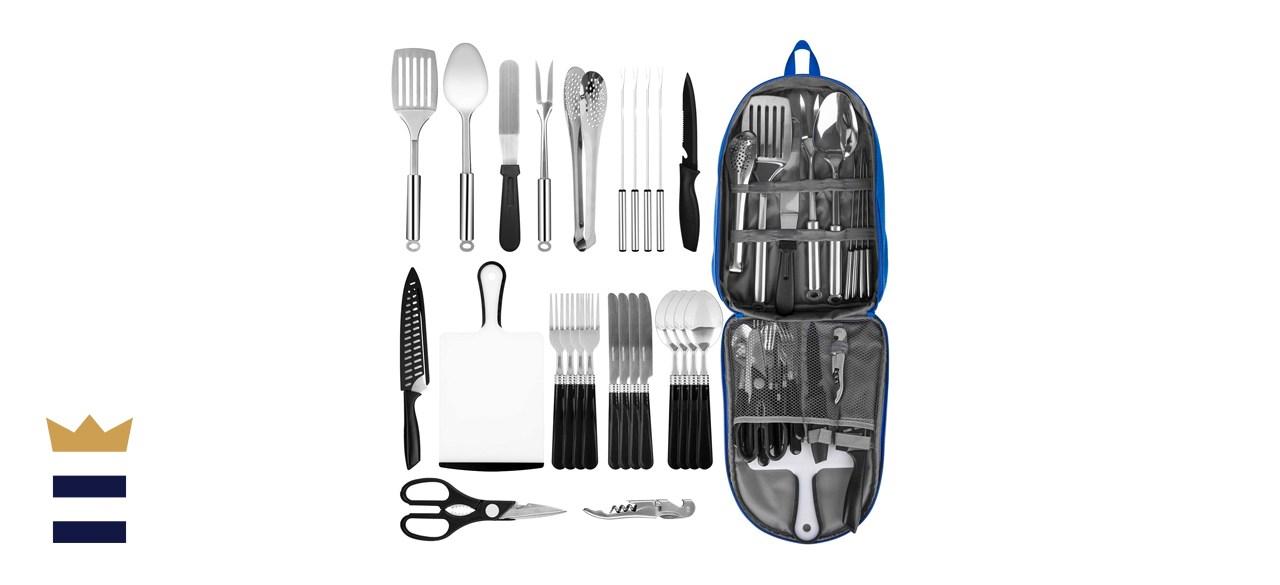 Portable Camping Kitchen Utensil Set
