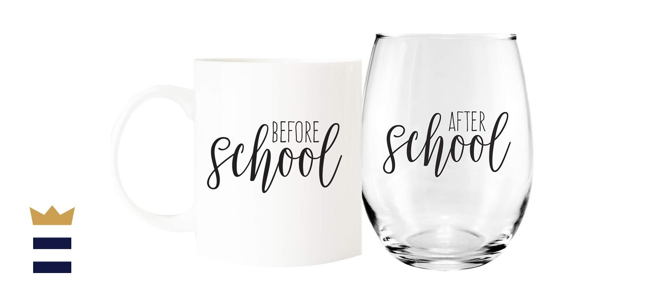 Canopy Street Store Before School/After School Mug and Wine Glass