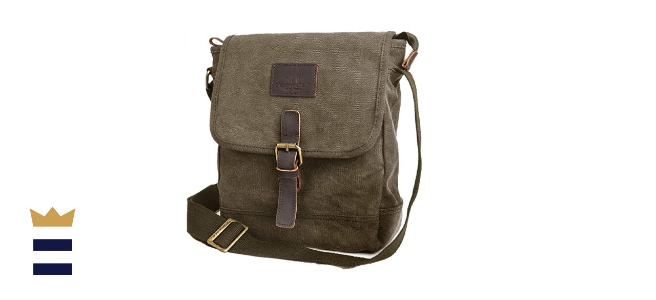 TOPWOLF Canvas Messenger Bag