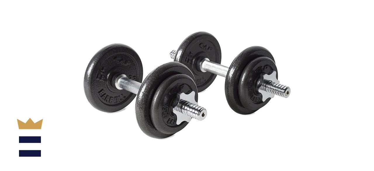 CAP Barbell Adjustable 40-Pound Dumbbell Set