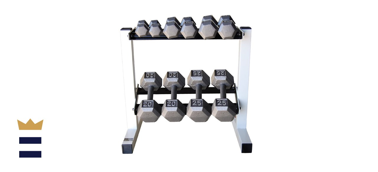 CAP Barbell Solid Hex Dumbbell Set