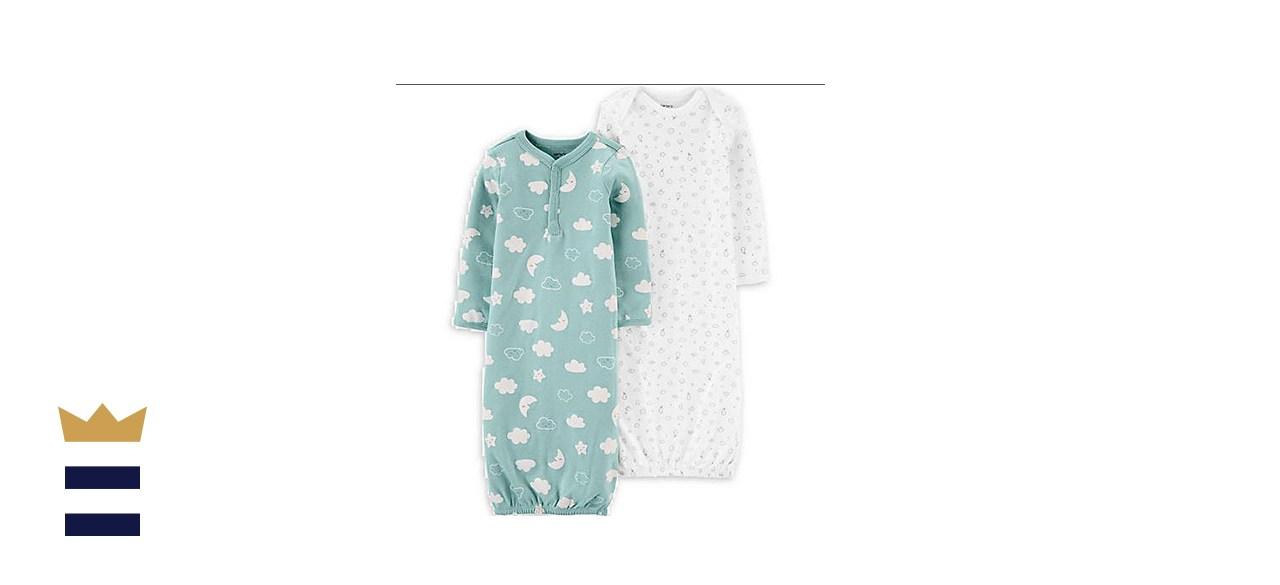 Carter's Newborn 2-Pack Clouds Gowns in Mint