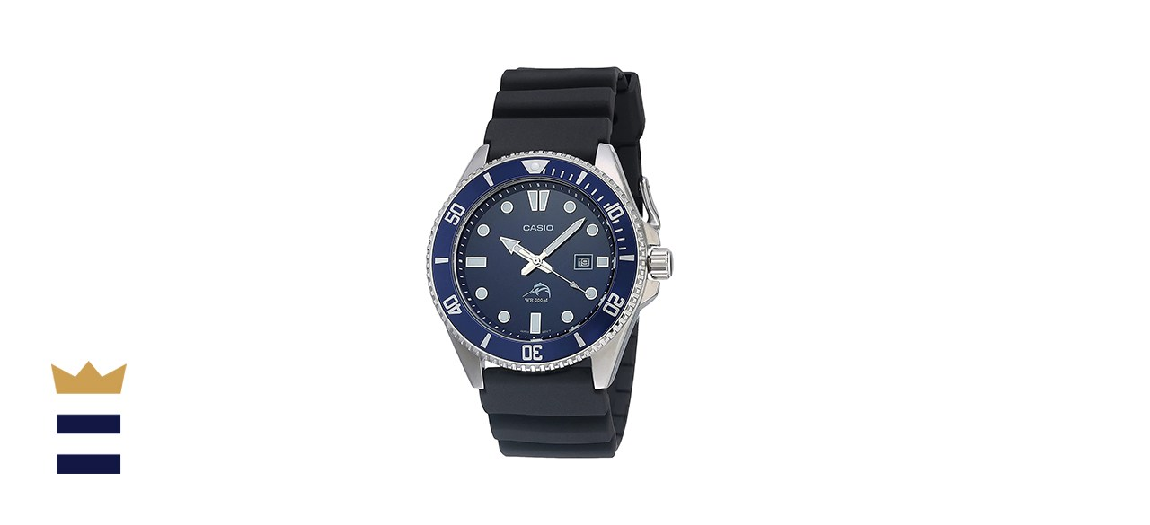 Casio Men's Stainless Steel Dive-Style Watch