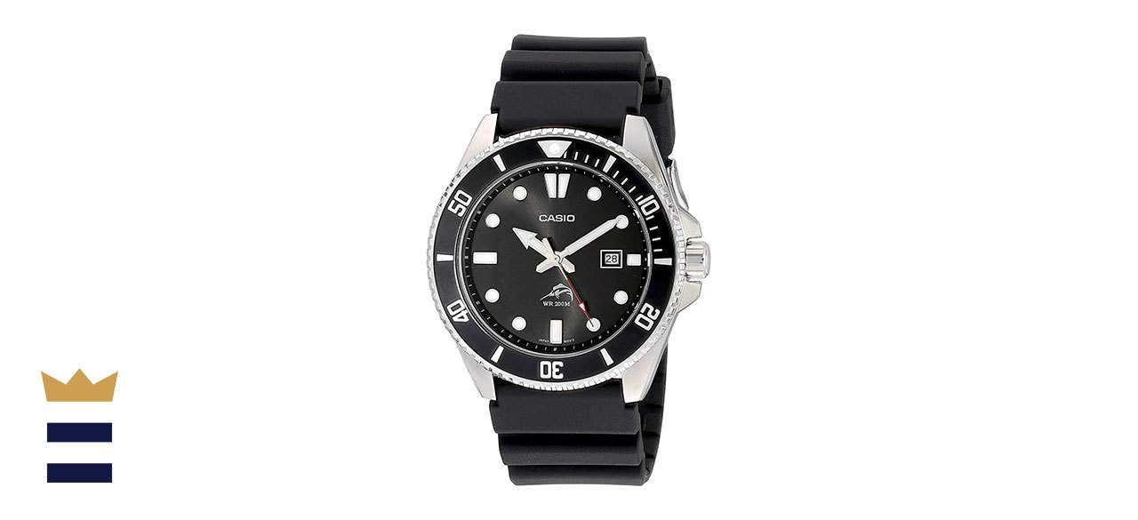 Casio's Men's Stainless Steel Dive-Style Watch