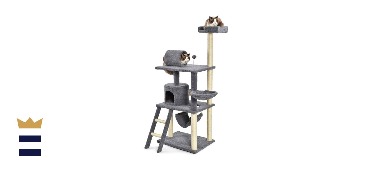 Amazon Basics Multi-Level Cat Tree with Scratching Posts