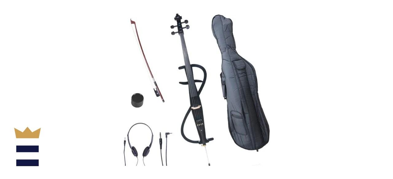 Cecilio CECO-3BK Ebony Electric Silent Metallic Black Cello