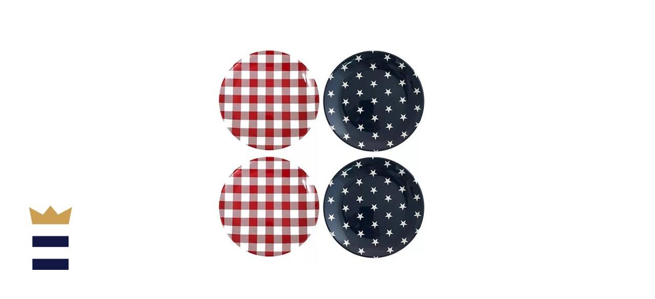 Celebrate Americana Together Melamine Salad Plate Set