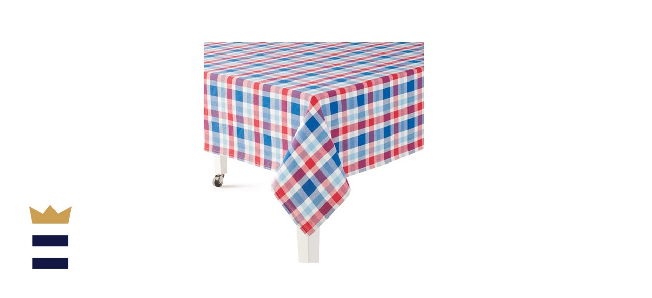 Celebrate Americana Together Plaid Tablecloth