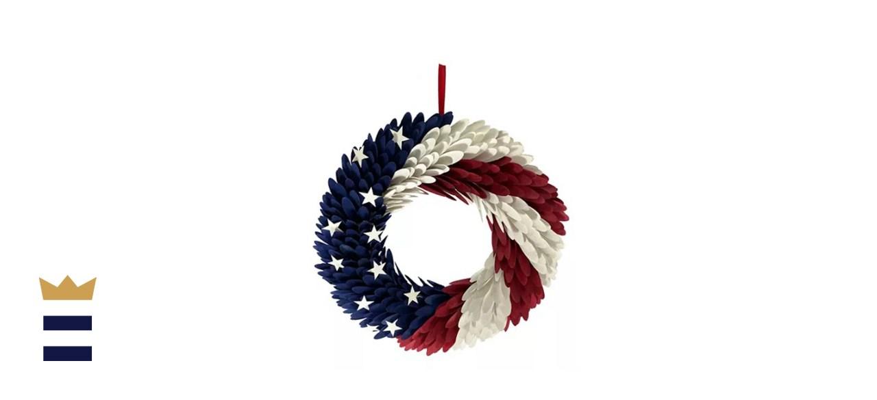 Celebrate Americana Together Wood Curl Wreath