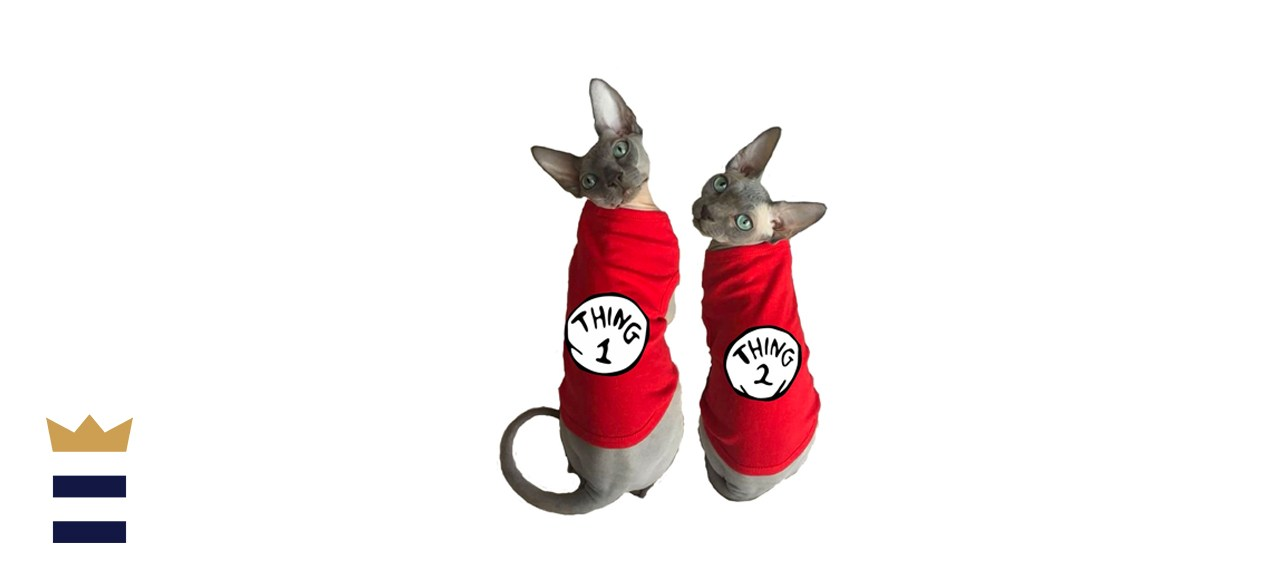 CelebriT Thing 1 and Thing 2 Matching Cat Tank Tops
