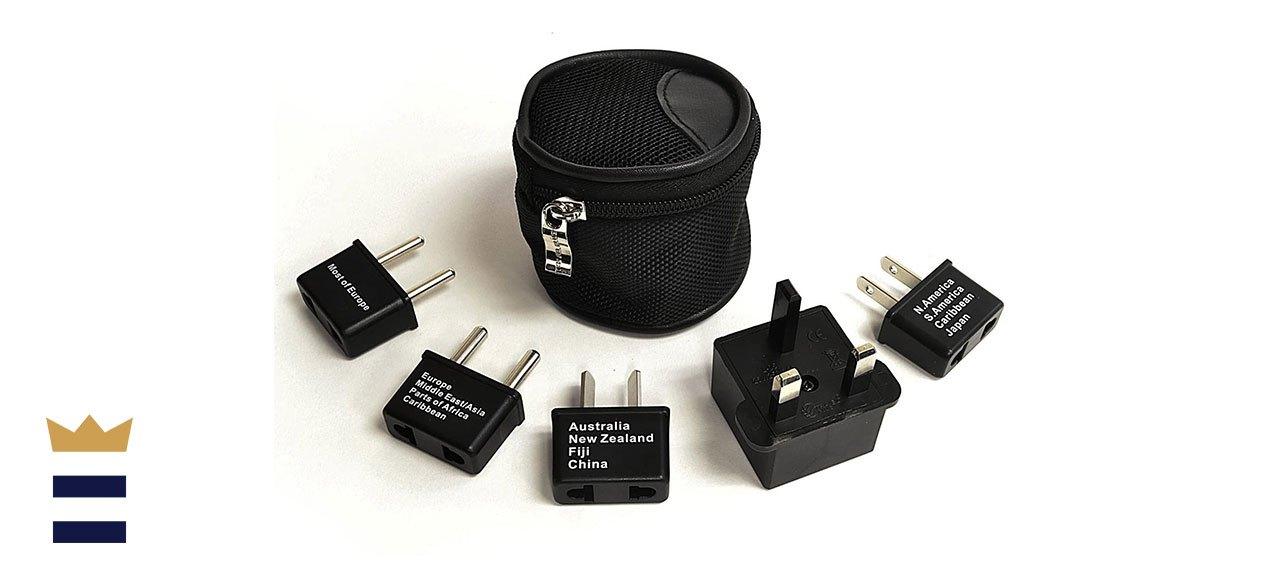 Ceptics' Worldwide Travel Plug Adapter Five-Piece Set