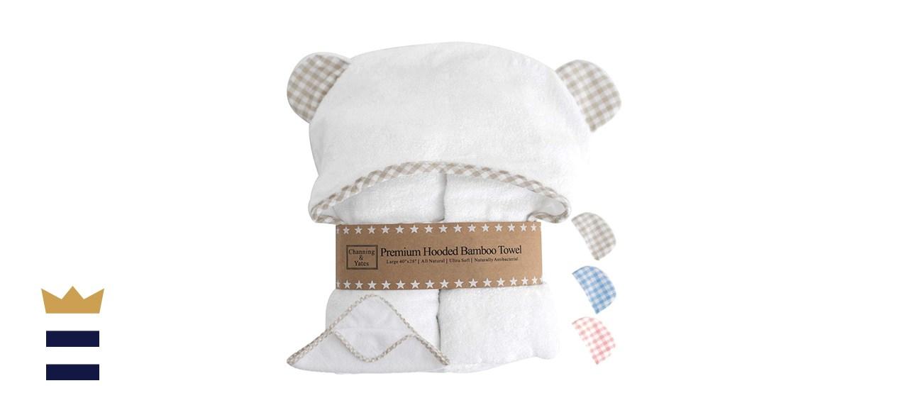 Channing & Yates Premium Hooded Baby Towel and Washcloth Set