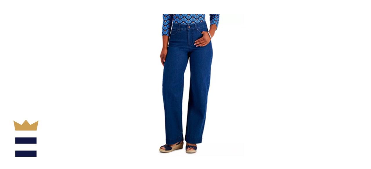 Charter Club Wide-Leg Jeans