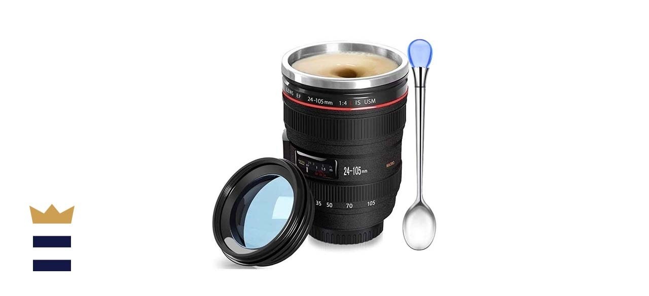Chasing Y Camera Lens Coffee Mug