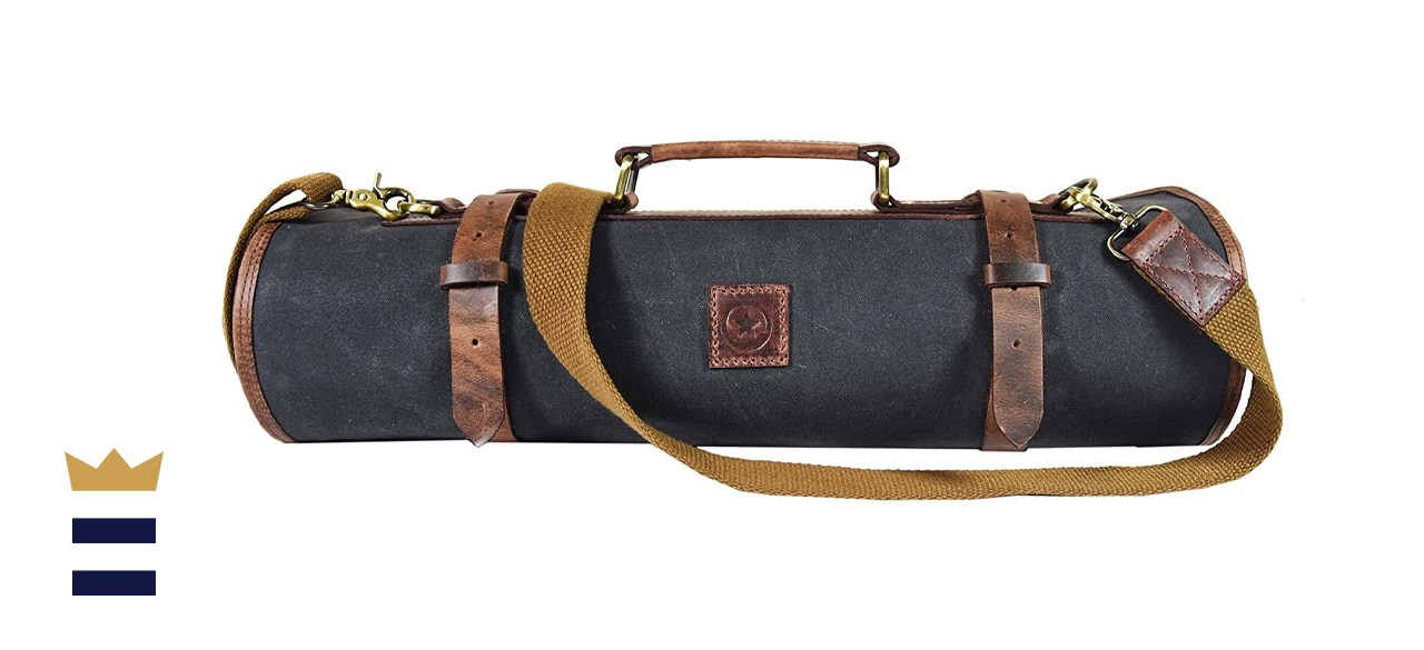 Travel-Friendly Chef Knife Case Roll By Aaron Leather