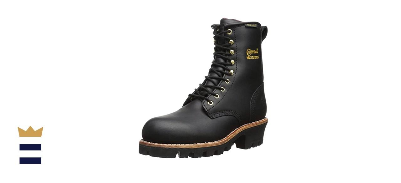 "Chippewa 8"" Waterproof Insulated Steel Toe Logger Boot"