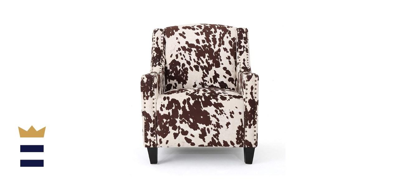 Christopher Knight Home Elysabeth Studded Velvet Club Chair