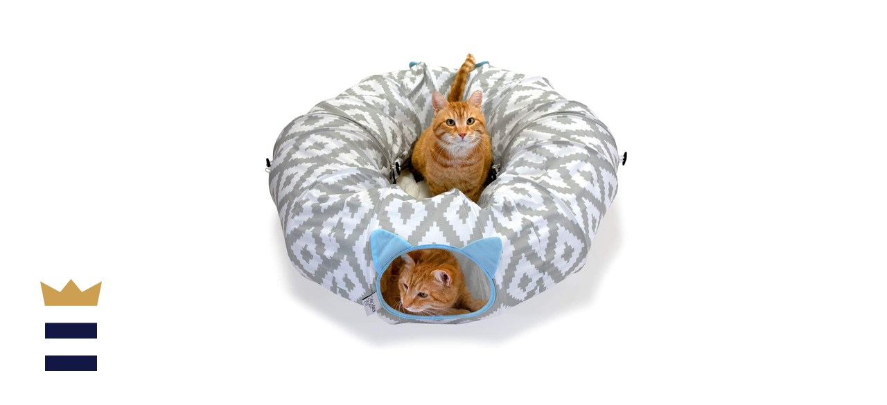 Kitty City Large Cat Tunnel and Bed Combo