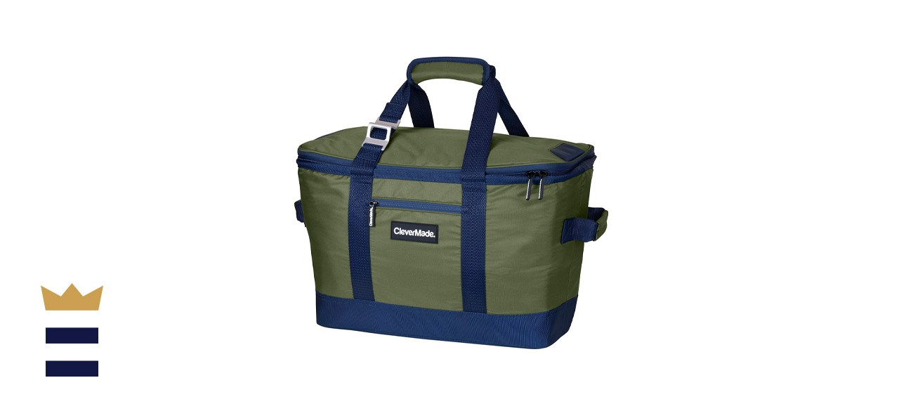 CleverMade SnapBasket Soft-Sided Collapsible Cooler Bag