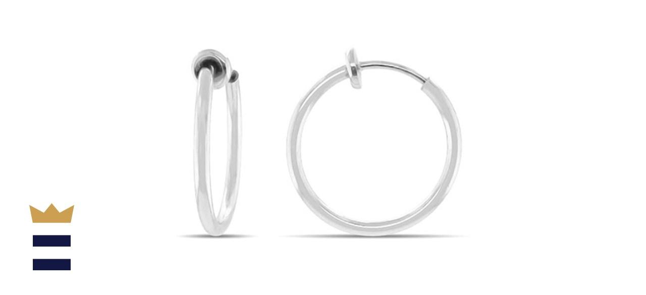 Clip-On Hoop Earrings for Women