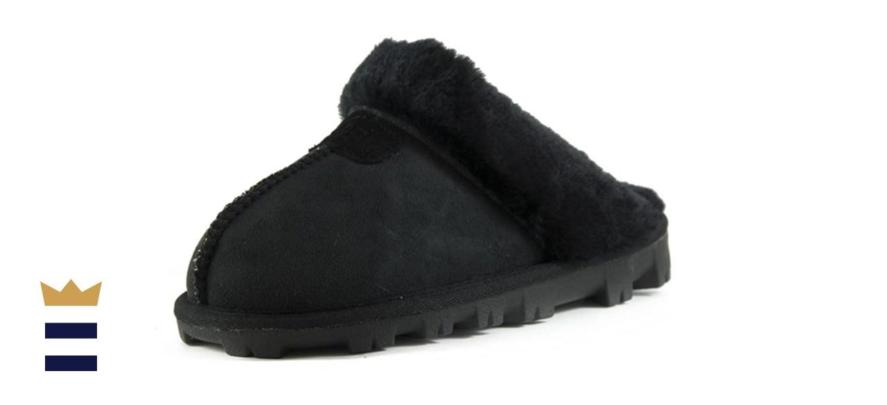 CLPP'LI Women's Faux Fur Winter Mules Slippers