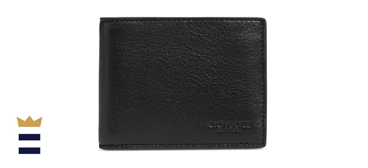 Coach Men's Leather Slim Sport Billfold Wallet