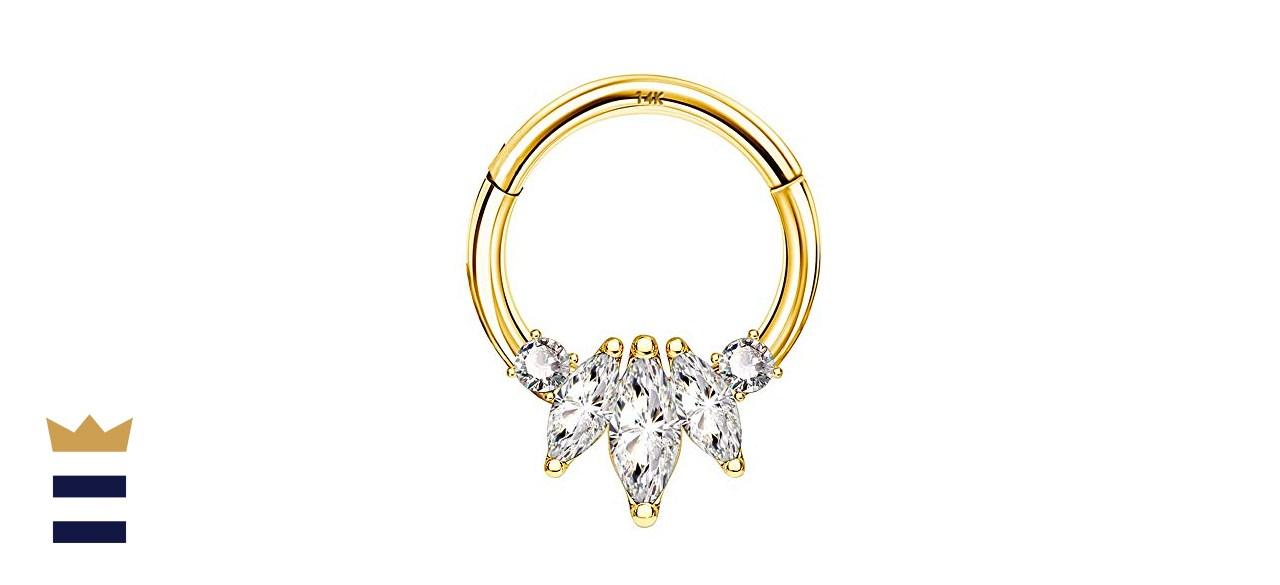 COCHARM Solid Gold Cartilage Earring Hoop