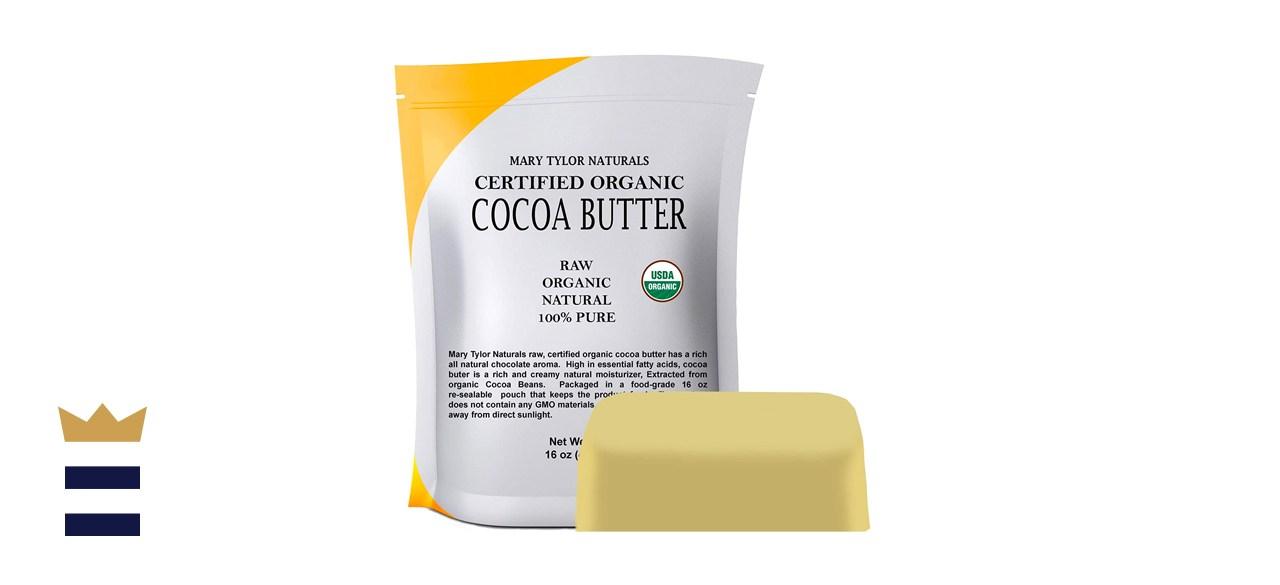 Organic Cocoa Butter (1 lb) Mary Tylor Naturals Raw Unrefined