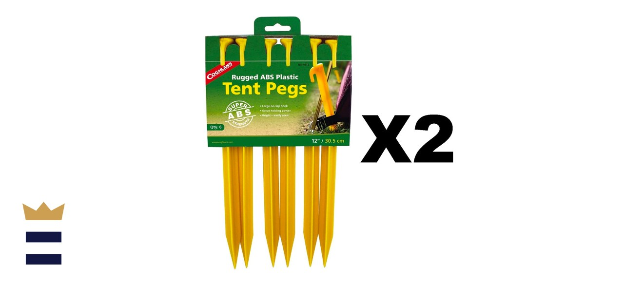 Coghlan's Rugged ABS Plastic Tent Pegs
