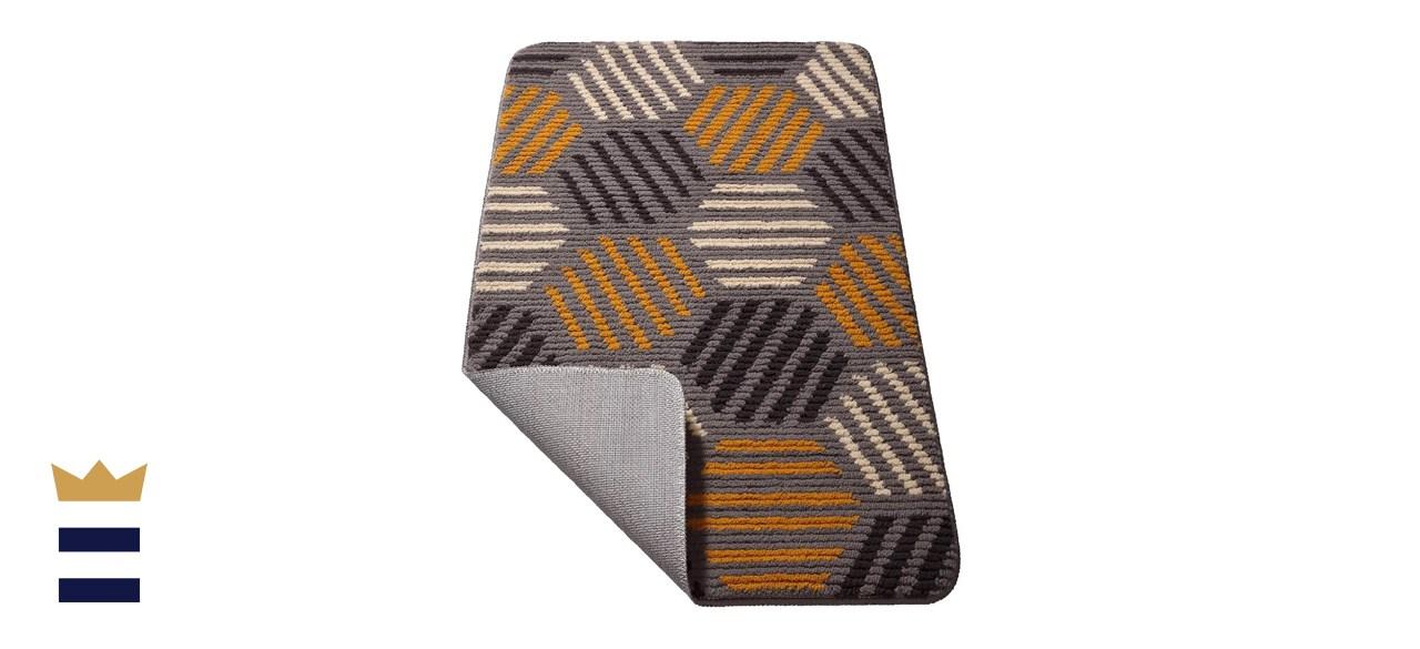 """Color&Geometry Orange and Black Indoor Doormat 24"""" x 36"""""""