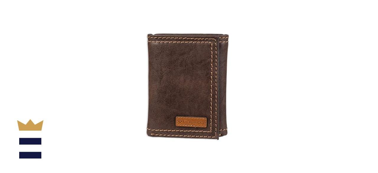 Columbia Leather Tri-Fold RFID Wallet