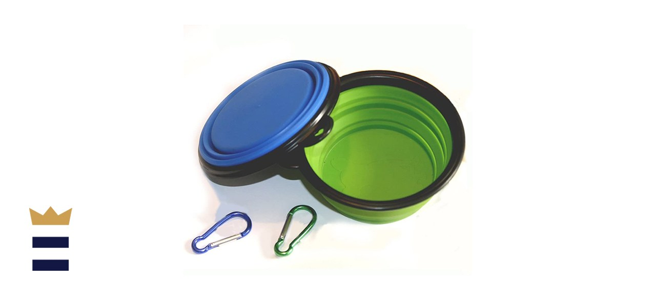 COMSUN Collapsible Dog Bowl (Set of 2)