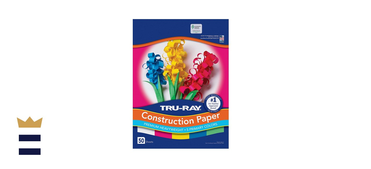 Tru-Ray Assorted Primary Colors Construction Paper