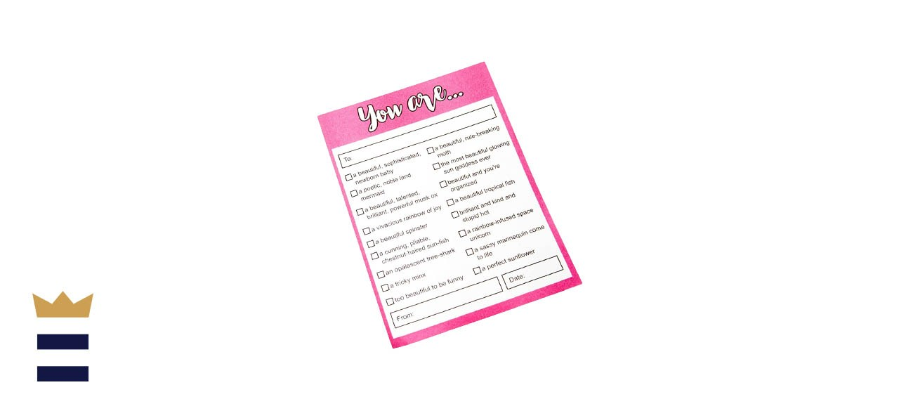 Cool TV Props Parks and Recreation Leslie Knope Compliments Checklist