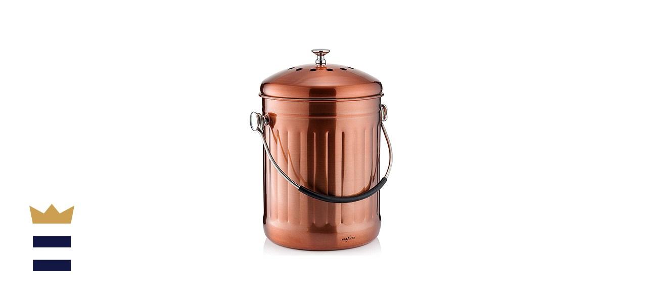 RED FACTOR Premium Compost Bin for Kitchen Countertop