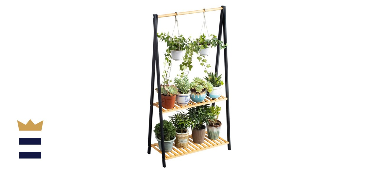 Copree Bamboo Two-Tier Hanging Plant Stand