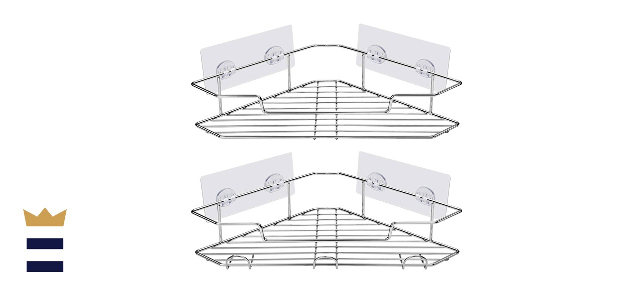 corner mounted shower shelves