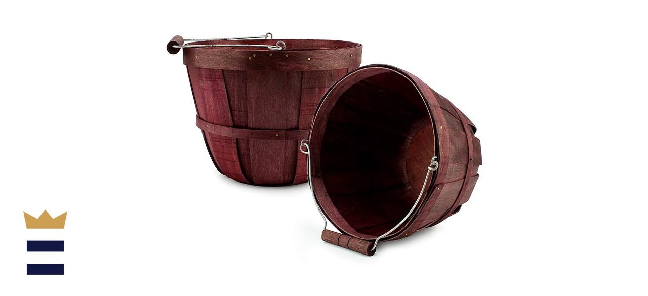 Cornucopia Brands Round Wooden Baskets