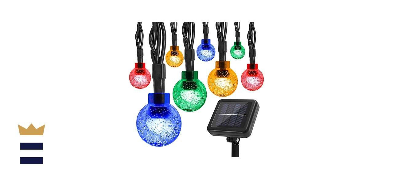 Correare Multi-Colored Outdoor Solar String Lights