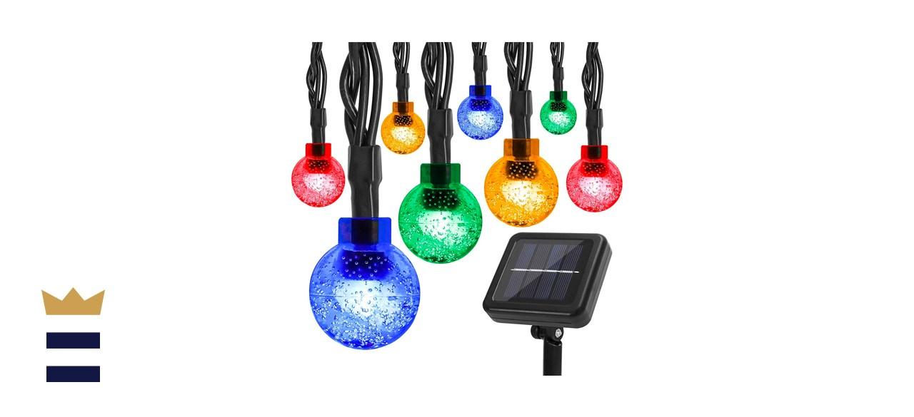 Correare Multicolored Globe Solar String Lights