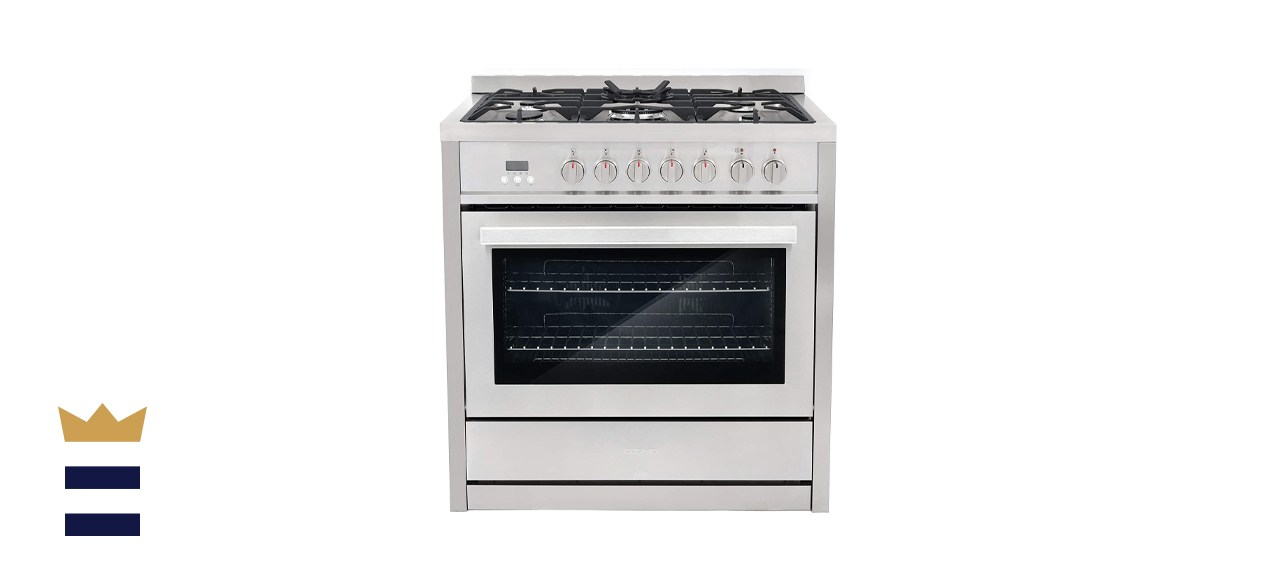 Cosmo Dual Fuel Range with 5 Gas Burners